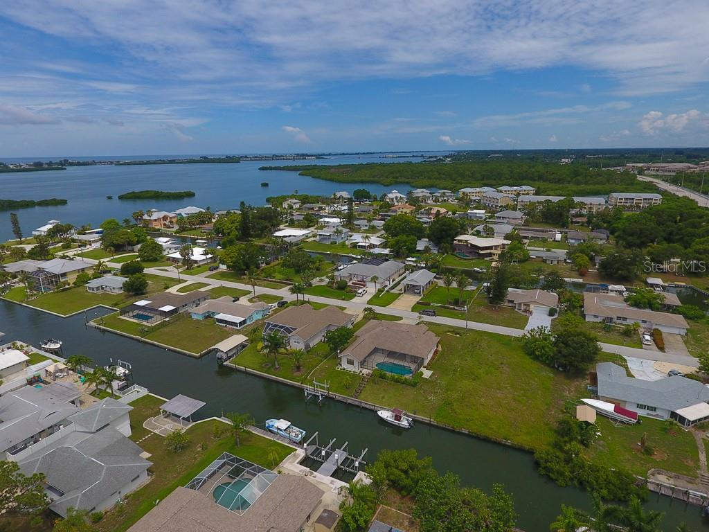 Aerial of rear of lot - Vacant Land for sale at 0 Michigan Ave, Englewood, FL 34224 - MLS Number is D5912495