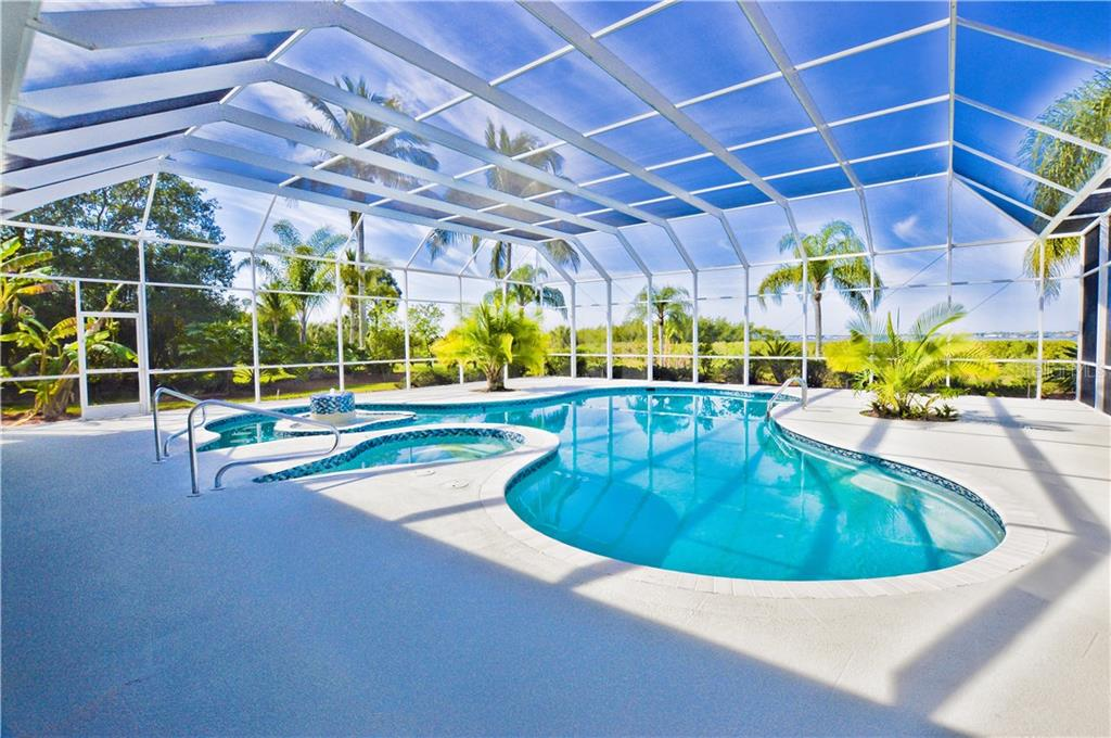 large pool area over looking the Myakka River - Single Family Home for sale at 3121 Rivershore Ln, Port Charlotte, FL 33953 - MLS Number is D5917816