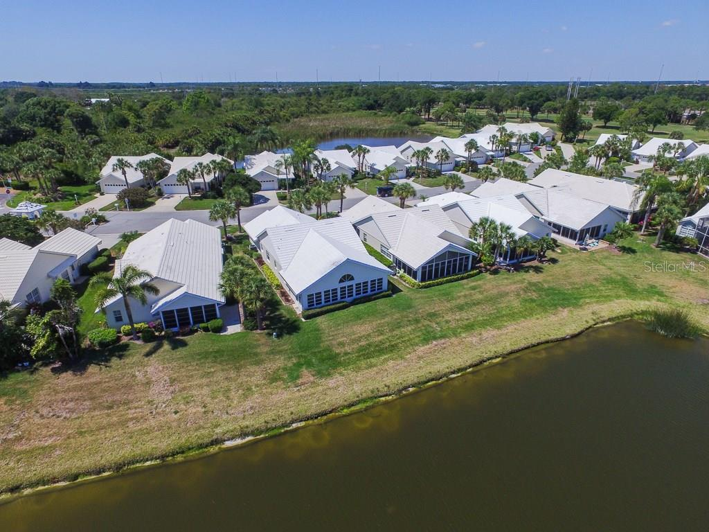 Rear Aerial View - Single Family Home for sale at 1806 Ashley Dr, Venice, FL 34292 - MLS Number is D5918442