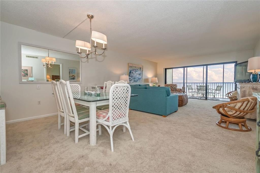 DINING AND LIVING AREA OVER LOOKING THE GULF OF MEXICO - Condo for sale at 5700 Gulf Shores Dr #a-215, Boca Grande, FL 33921 - MLS Number is D5922393