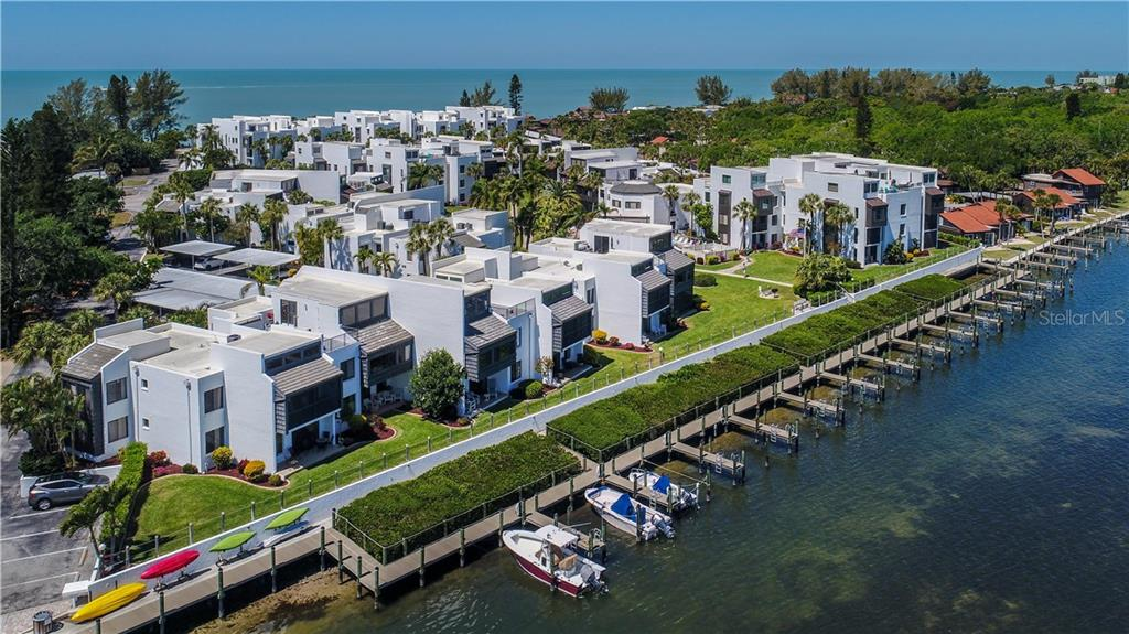 Bayside of complex featuring 26 boat slips - Condo for sale at 2955 N Beach Rd #b612, Englewood, FL 34223 - MLS Number is D6101147