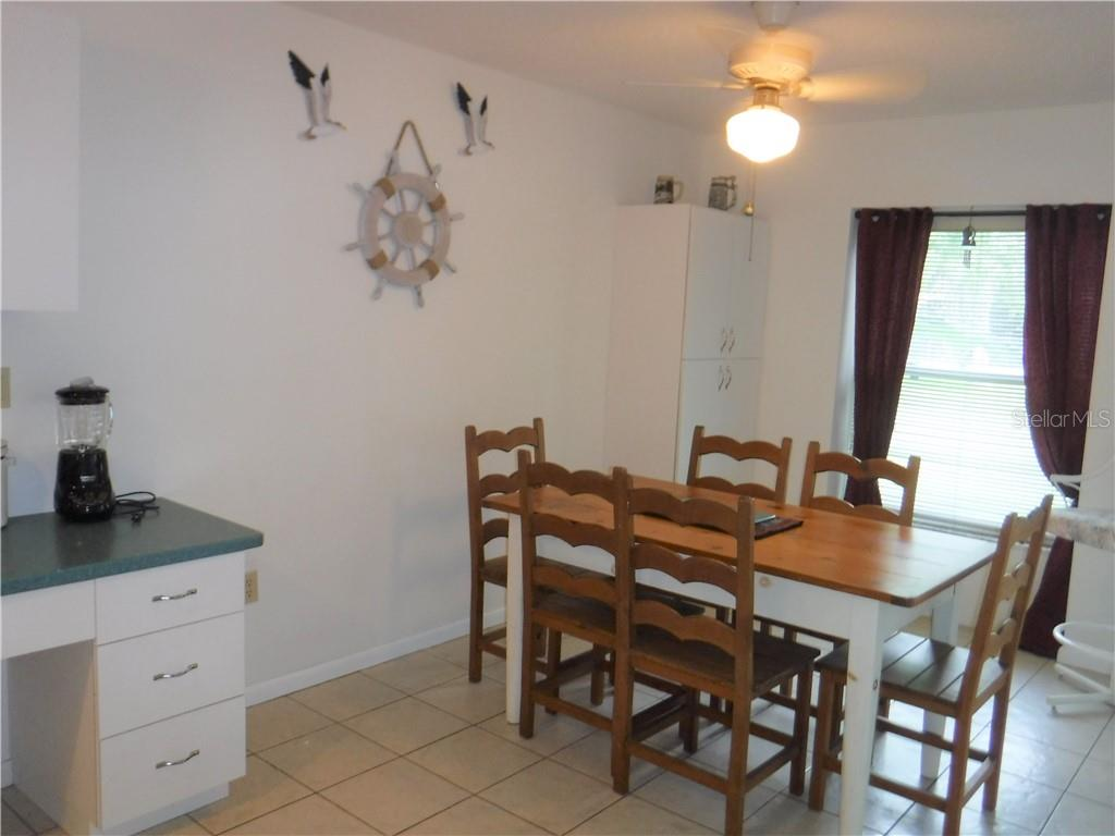 Spacious dining area off kitchen. - Single Family Home for sale at 3001 Pellam Blvd, Port Charlotte, FL 33948 - MLS Number is D6101282