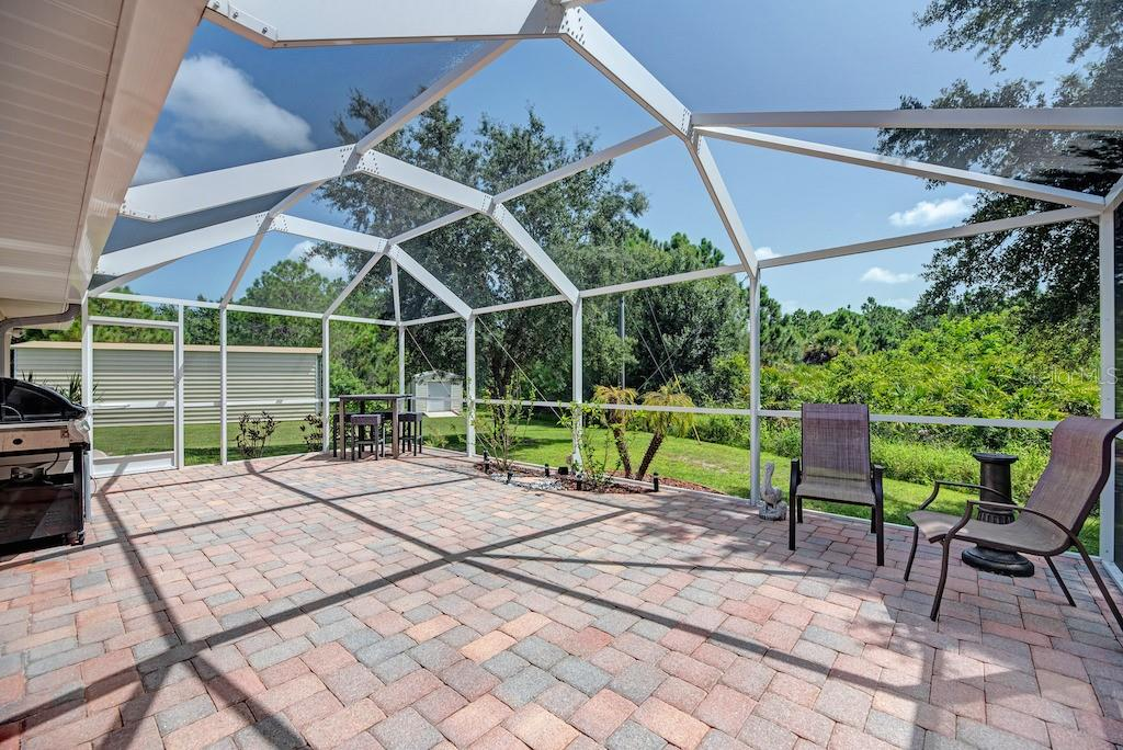 Private back yard retreat.  No house behind, at present. - Single Family Home for sale at 7256 Holsum St, Englewood, FL 34224 - MLS Number is D6101787