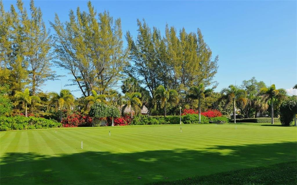 Croquet lawn in North Village - Single Family Home for sale at 168 Carrick Bend Ln, Boca Grande, FL 33921 - MLS Number is D6109154