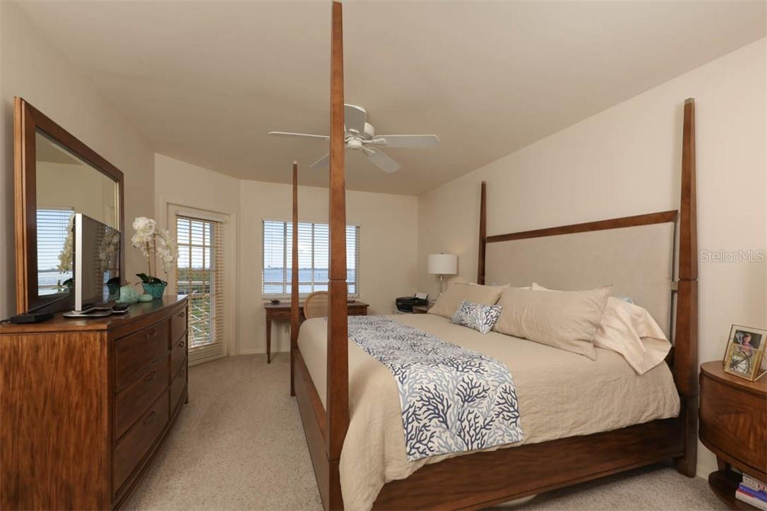 Master Bedroom with beautiful views of Intracoastal - Condo for sale at 11000 Placida Rd #306, Placida, FL 33946 - MLS Number is D6110298