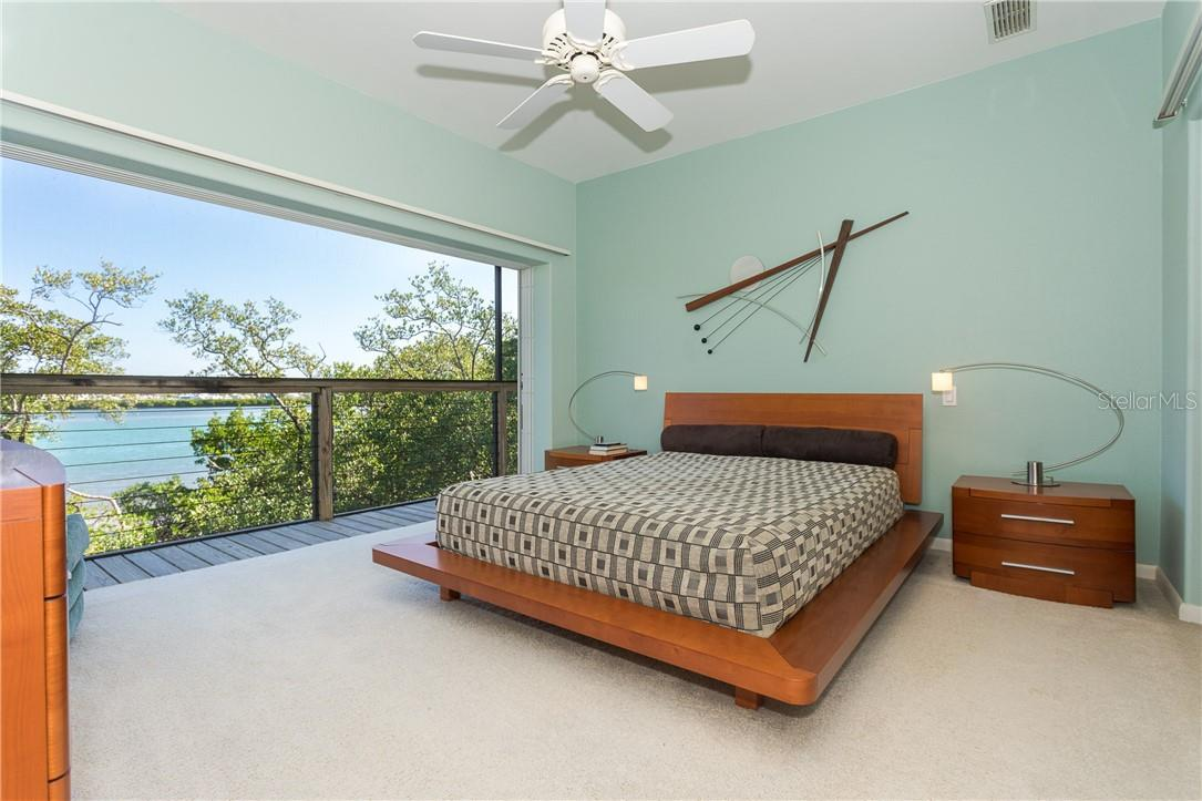 Master Bedroom with View of the Intracoastal. - Single Family Home for sale at 5 Pointe Way, Placida, FL 33946 - MLS Number is D6110468