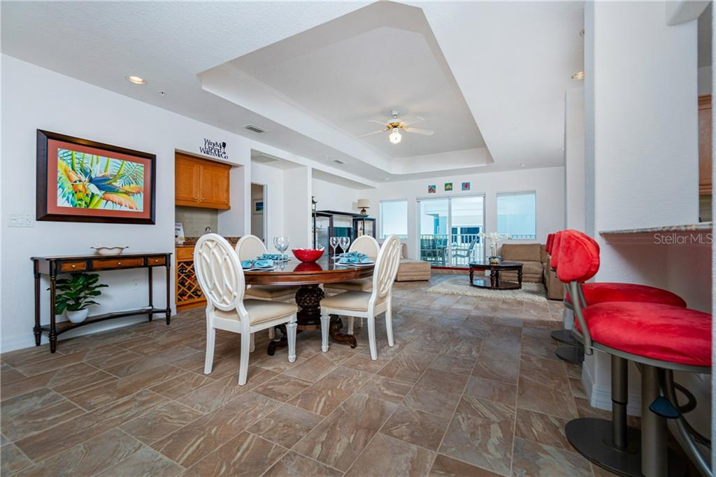 Large Dining Room with Wet Bar - Condo for sale at 2225 N Beach Rd #401, Englewood, FL 34223 - MLS Number is D6114646