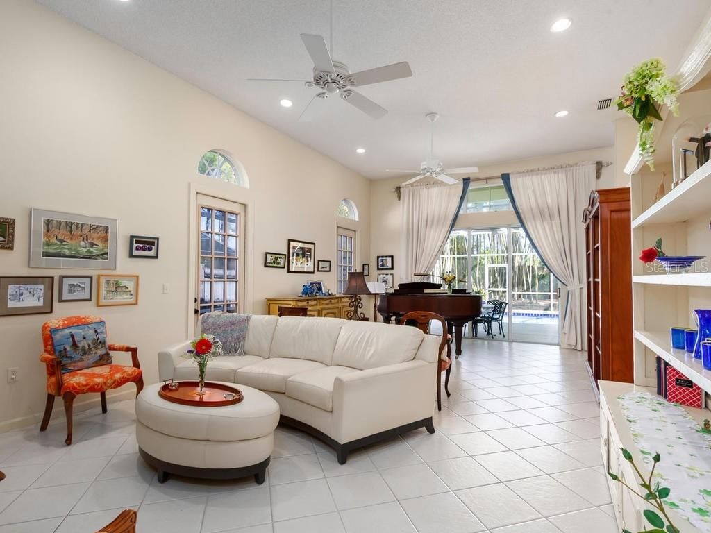 Inviting dining area with gorgeous view of pool and back yard - Single Family Home for sale at 6193 Nicole Ct, Sarasota, FL 34243 - MLS Number is T3152335