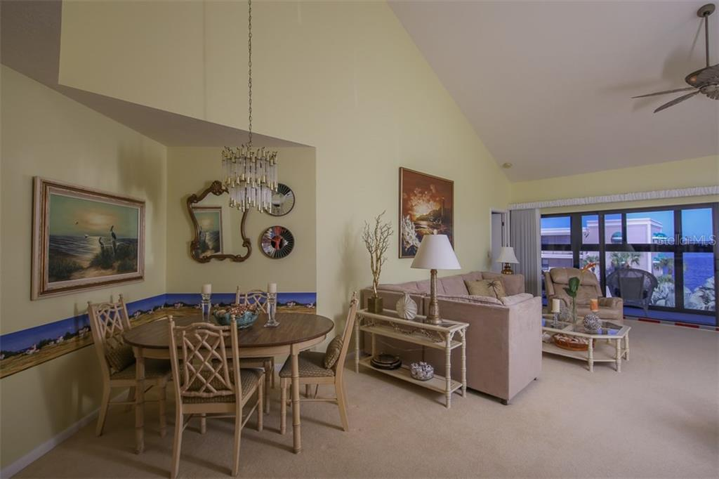 The dining room enjoys beautiful views - Condo for sale at 1765 Jamaica Way #302, Punta Gorda, FL 33950 - MLS Number is C7234643