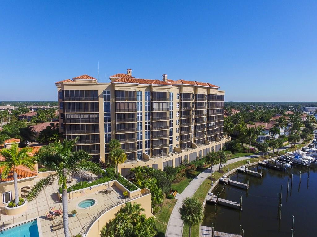 Grande Isle Tower I as seen from water side. - Condo for sale at 3313 Sunset Key Cir #402, Punta Gorda, FL 33955 - MLS Number is C7236886
