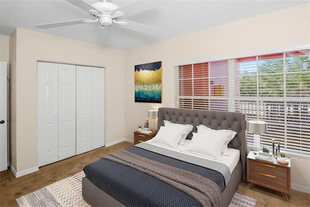 Virtually staged Bedroom 2 is adjacent to hall bathroom - Condo for sale at 2040 Willow Hammock Cir #b208, Punta Gorda, FL 33983 - MLS Number is C7408424