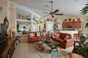 Soaring cathedral ceilings in this fabulous great room - many wonderful architectural features and plant shelves - Single Family Home for sale at 220 Broadmoor Ln, Rotonda West, FL 33947 - MLS Number is C7248036