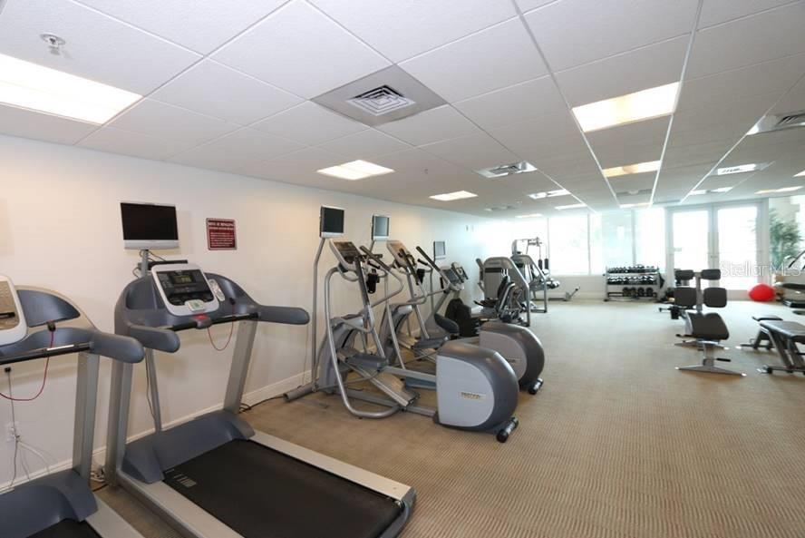 Fully equipped fitness center, locker rooms, on the 3rd floor - Condo for sale at 1771 Ringling Blvd #1108, Sarasota, FL 34236 - MLS Number is A4162718
