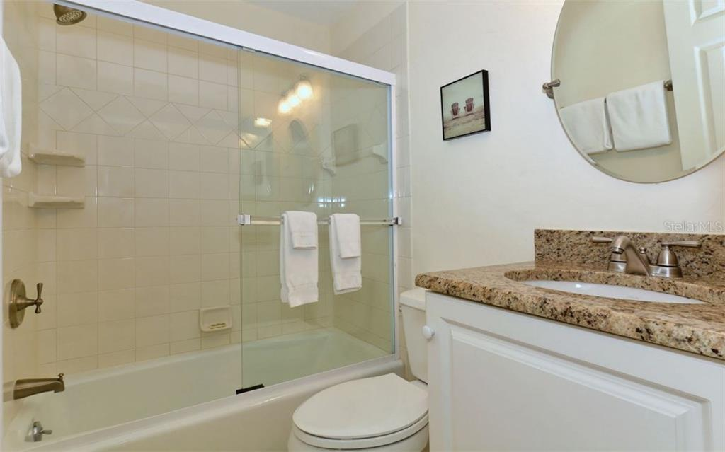 2nd bathroom - Single Family Home for sale at 5830 Midnight Pass Rd #504, Sarasota, FL 34242 - MLS Number is A4166623