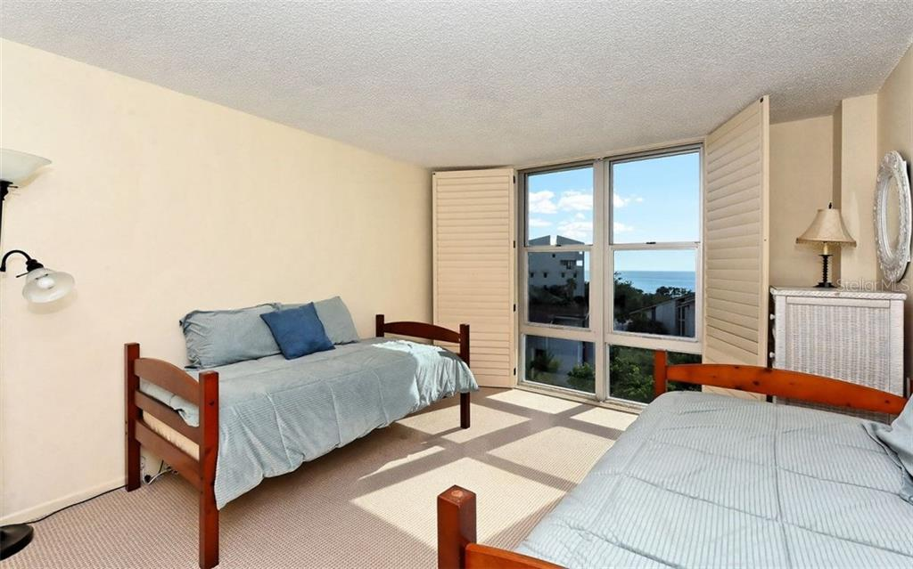 Guest Bedroom with gulf views - Condo for sale at 1701 Gulf Of Mexico Dr #505, Longboat Key, FL 34228 - MLS Number is A4170632