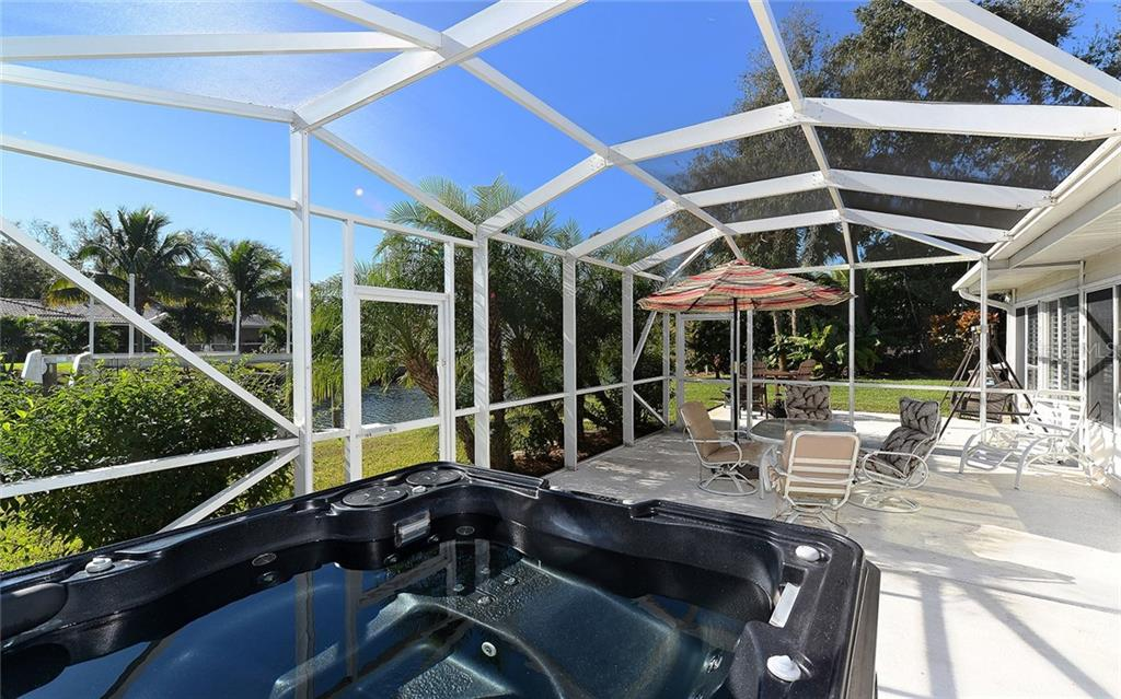 Open Screened Lanai Enclosure and Spa - Single Family Home for sale at 1532 Shelburne Ln, Sarasota, FL 34231 - MLS Number is A4173872