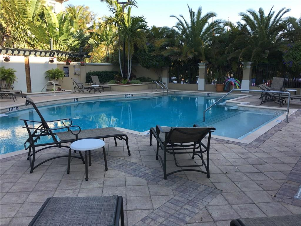 This unit is just down the hall from the attractive pool and spa. There are Weber grills available for residents to use, as well as, high-top tables and chairs for your party! - Condo for sale at 1064 N Tamiami Trl #1131, Sarasota, FL 34236 - MLS Number is A4174927