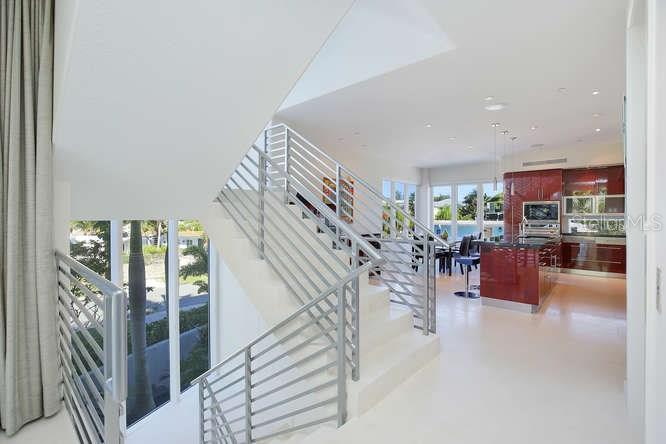 Staircase to all levels - Condo for sale at 501 Beach Rd #b, Sarasota, FL 34242 - MLS Number is A4175979