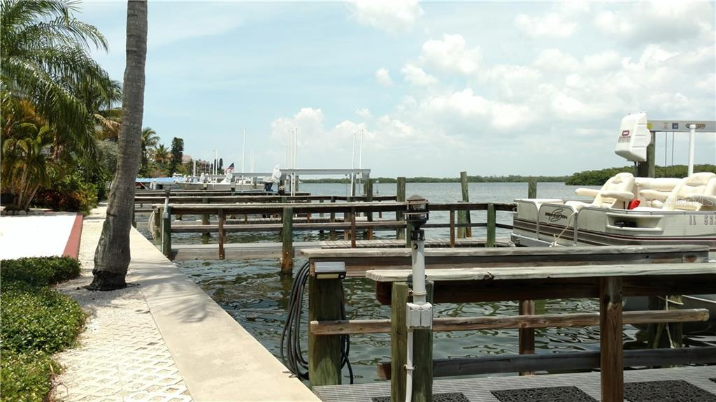 Water and electric at your private dock - Condo for sale at 9209 Midnight Pass Rd #5, Sarasota, FL 34242 - MLS Number is A4185067