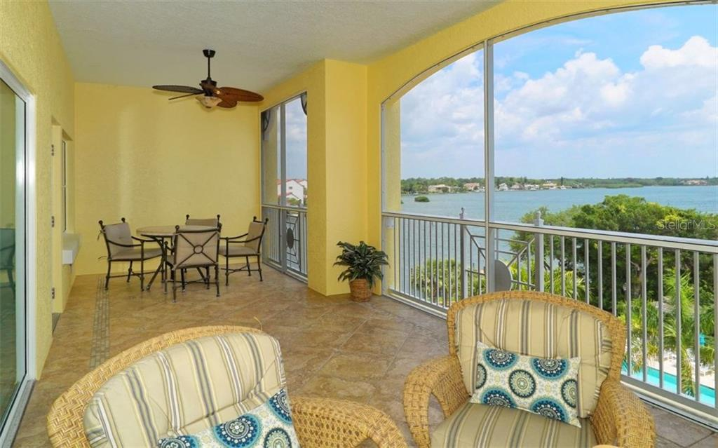 Covered/Screened balcony with Intracoastal views - Condo for sale at 1310 Old Stickney Point Rd #e53, Sarasota, FL 34242 - MLS Number is A4186018