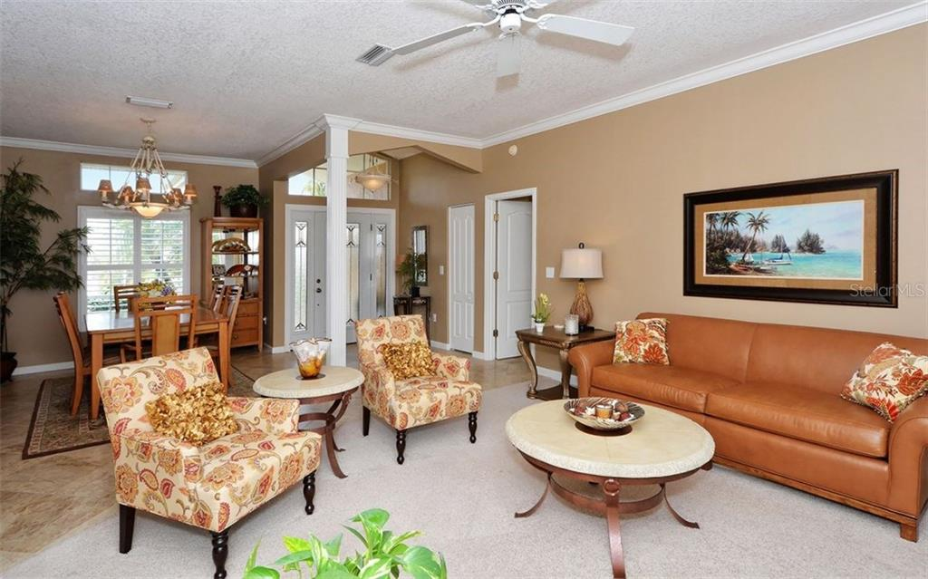 Formal Living Room - Single Family Home for sale at 4121 Via Mirada, Sarasota, FL 34238 - MLS Number is A4186485