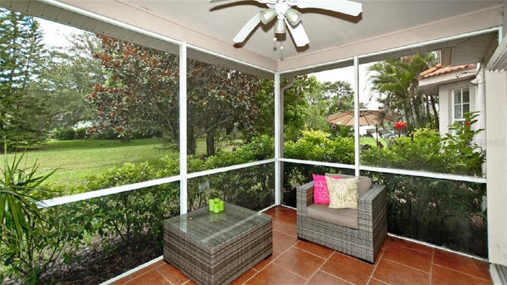 Screened in Patio area off of the den - Single Family Home for sale at 120 Whispering Oaks Ct, Sarasota, FL 34232 - MLS Number is A4188906