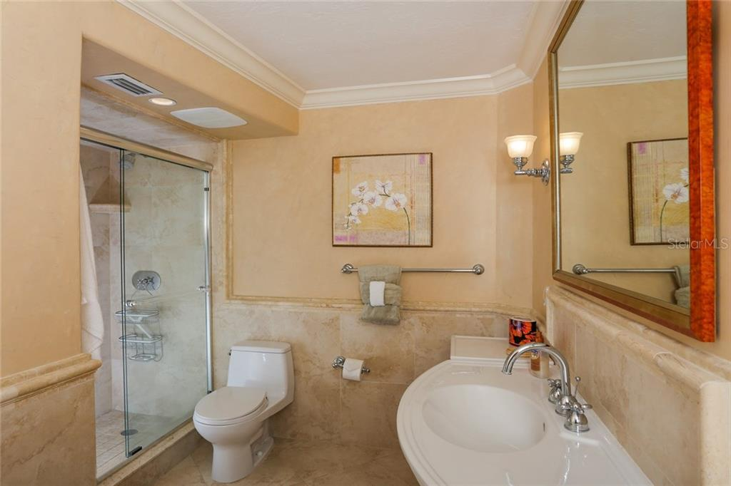 Master bathroom with walk-in shower - Condo for sale at 20 Whispering Sands Dr #1103, Sarasota, FL 34242 - MLS Number is A4192663