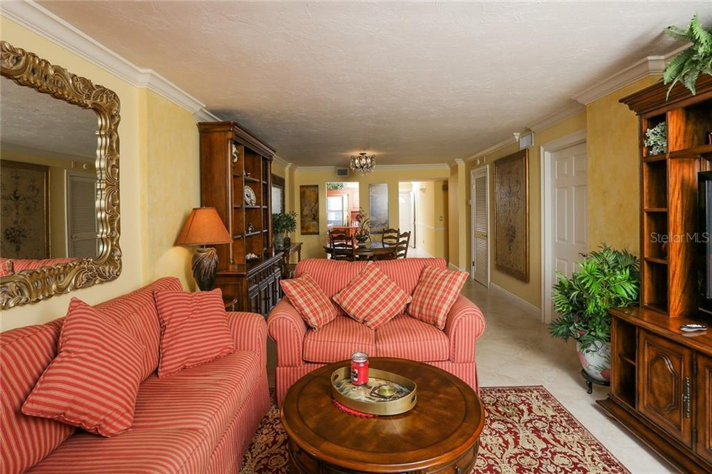 Living / Dining room views - Condo for sale at 20 Whispering Sands Dr #1103, Sarasota, FL 34242 - MLS Number is A4192663