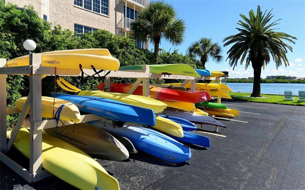 Community Kayak storage - Condo for sale at 5855 Midnight Pass Rd #328, Sarasota, FL 34242 - MLS Number is A4200358