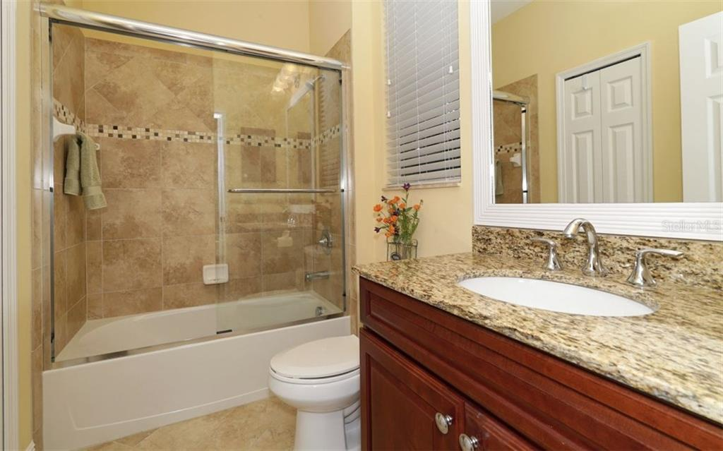 Full ensuite Guest Bath - Single Family Home for sale at 1746 Hillview St, Sarasota, FL 34239 - MLS Number is A4202985