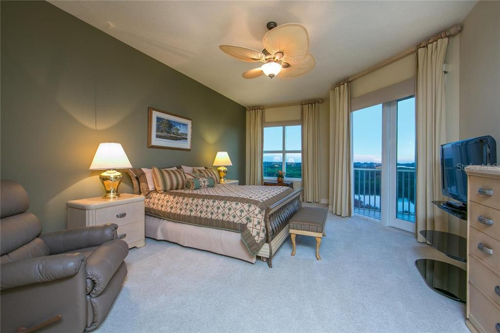 Expansive master bedroom is perfectly situated to enjoy beautiful sunsets on the Gulf of Mexico. Also includes private doors from master bedroom to the screen lanai. - Condo for sale at 3603 N Point Rd #703bd6, Osprey, FL 34229 - MLS Number is A4204172