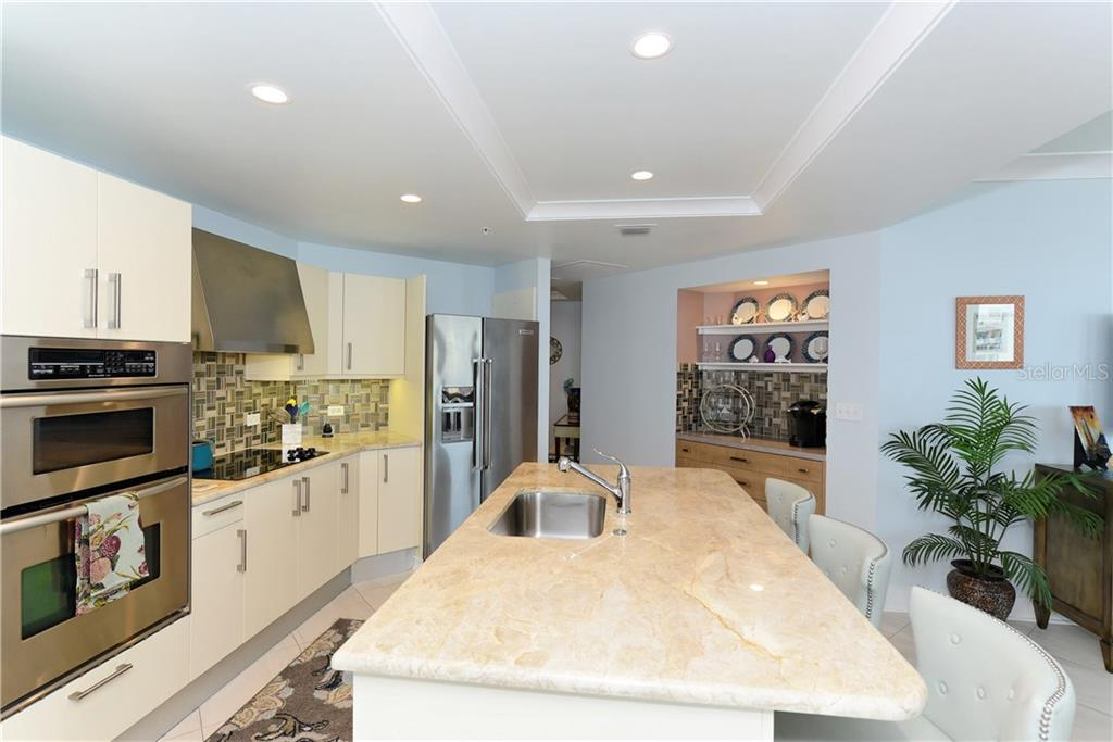 Bright Kitchen with Double Ovens. - Condo for sale at 1350 Main St #1106, Sarasota, FL 34236 - MLS Number is A4209424