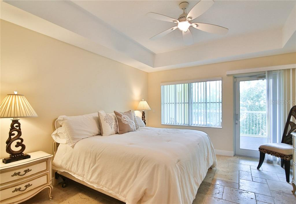 Second Bedroom with private balcony - Condo for sale at 1310 Old Stickney Point Rd #e21, Sarasota, FL 34242 - MLS Number is A4209502