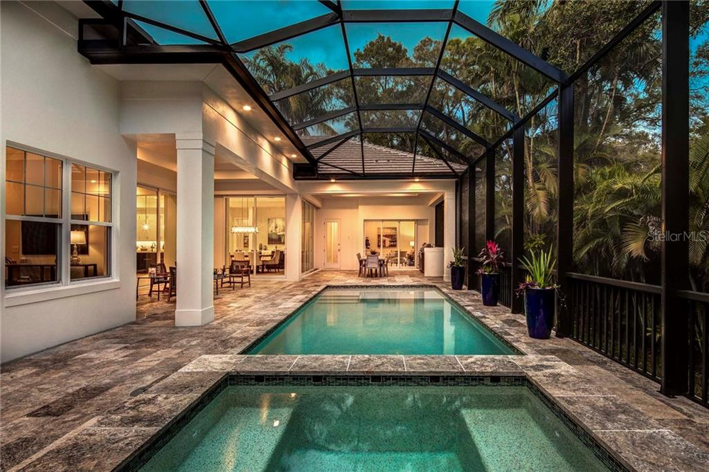 Pool, Spa and Outdoor Living - Single Family Home for sale at 3921 Red Rock Way, Sarasota, FL 34231 - MLS Number is A4212223