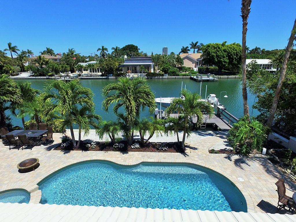 Pool Overlooking Waterway - Single Family Home for sale at 85 S Polk Dr, Sarasota, FL 34236 - MLS Number is A4400870