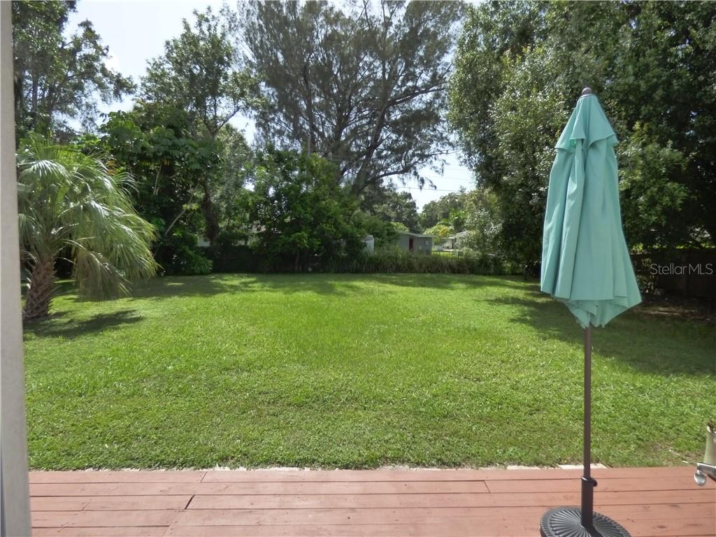 Oversized fenced backyard - Single Family Home for sale at 1802 26th St W, Bradenton, FL 34205 - MLS Number is A4402735