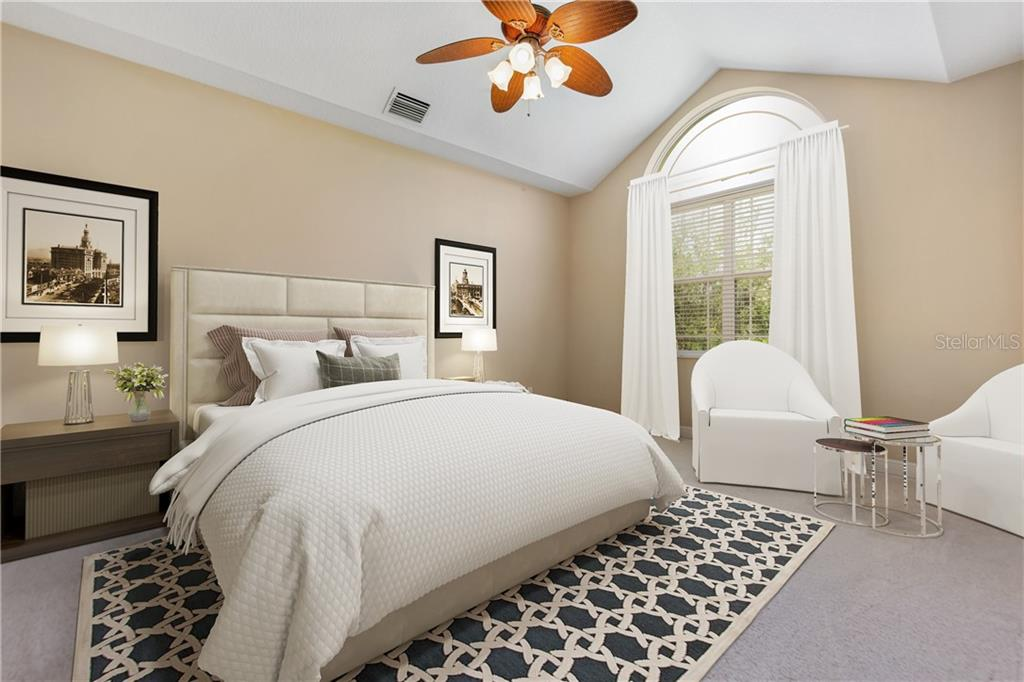 Virually staged.  Another way to set up the master bedroom. - Condo for sale at 6540 Moorings Point Cir #202, Lakewood Ranch, FL 34202 - MLS Number is A4403403
