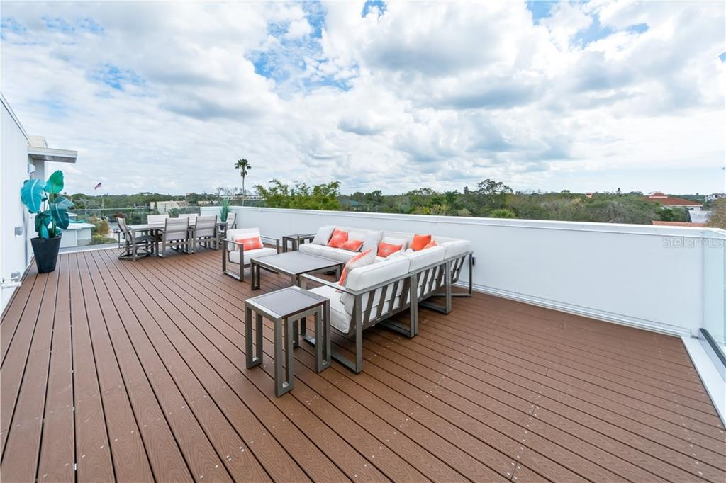 600 Sq Ft Private Roof Top Deck - Townhouse for sale at 632 S Rawls Ave, Sarasota, FL 34236 - MLS Number is A4404361