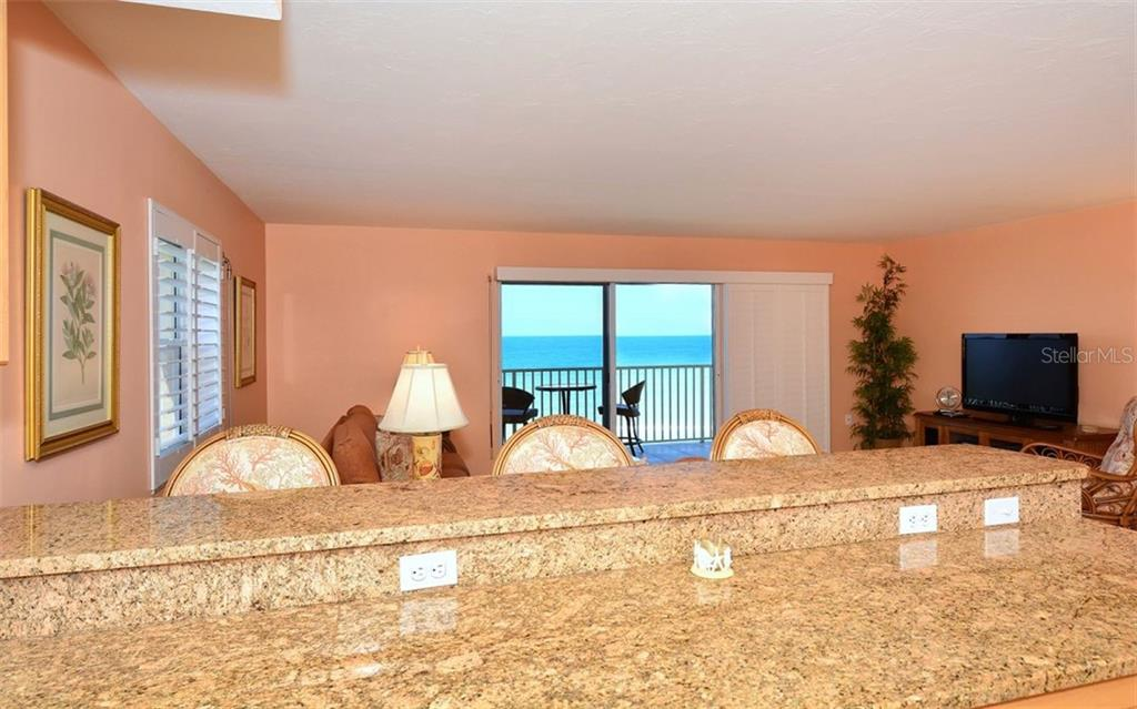 Open kitchen with  direct gulf views - Condo for sale at 4311 Gulf Of Mexico Dr #601, Longboat Key, FL 34228 - MLS Number is A4405195