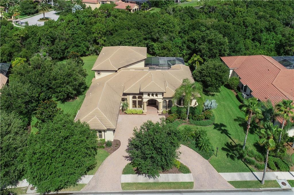 Aerial view of 13219 Palmers Creek Terrace in the Lakewood Ranch Golf & Country Club - Single Family Home for sale at 13219 Palmers Creek Ter, Lakewood Ranch, FL 34202 - MLS Number is A4407857