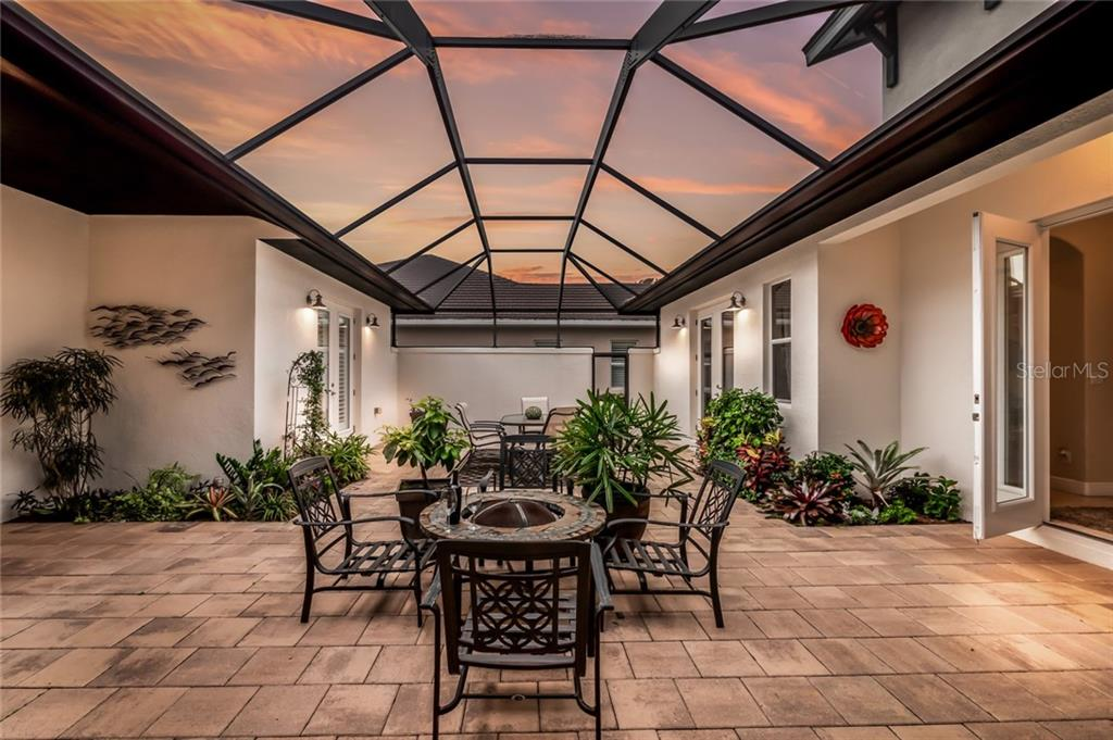 Interior Courtyard - Single Family Home for sale at 5114 Lake Overlook Ave, Bradenton, FL 34208 - MLS Number is A4412194