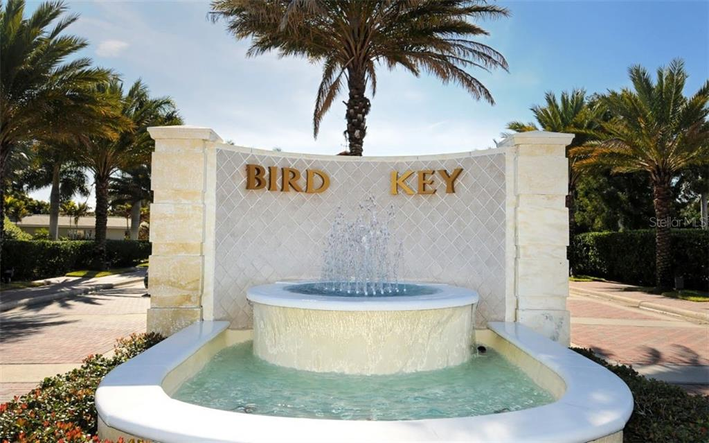 Entrance to Bird Key. - Single Family Home for sale at 390 Bob White Dr, Sarasota, FL 34236 - MLS Number is A4413388