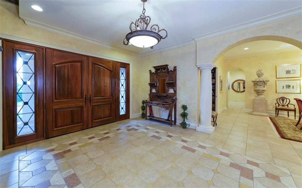 Grand Foyer - Single Family Home for sale at 2829 Wilfred Reid Cir, Sarasota, FL 34240 - MLS Number is A4416091