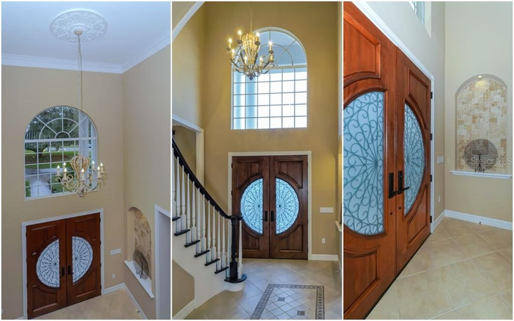 Stunning doors and architectural features throughout - Single Family Home for sale at 7698 Albert Tillinghast Dr, Sarasota, FL 34240 - MLS Number is A4416123
