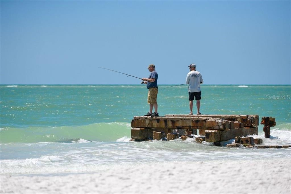 Good place to wet a line and catch dinner on Siesta Beach. - Villa for sale at 3617 Gleneagle Dr, Sarasota, FL 34238 - MLS Number is A4417832