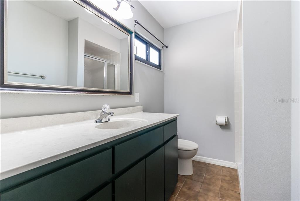 Second Bath shower only. - Villa for sale at 5235 Myrtle Wood #18, Sarasota, FL 34235 - MLS Number is A4418558