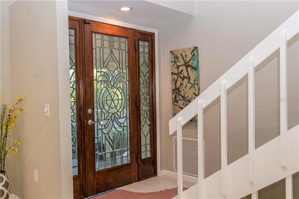 Front Door. - Single Family Home for sale at 108 Sand Dollar Ln, Sarasota, FL 34242 - MLS Number is A4421218