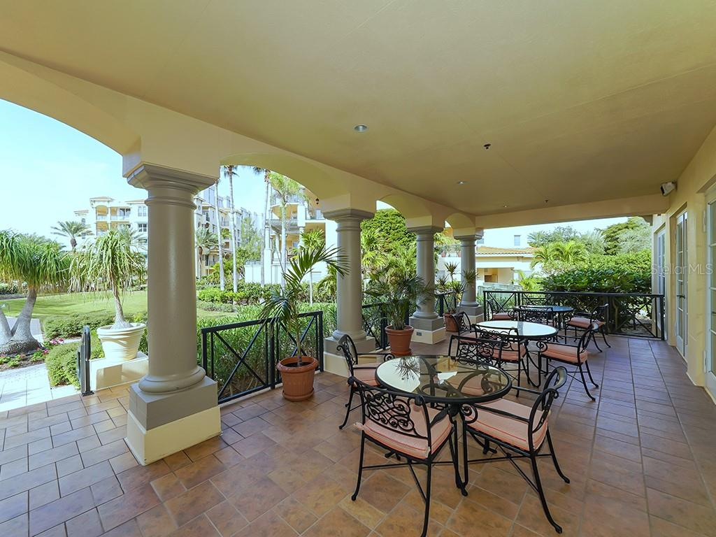 Vizcaya Clubhouse - Covered Outdoor Seating - Condo for sale at 2399 Gulf Of Mexico Dr #3c3, Longboat Key, FL 34228 - MLS Number is A4421722