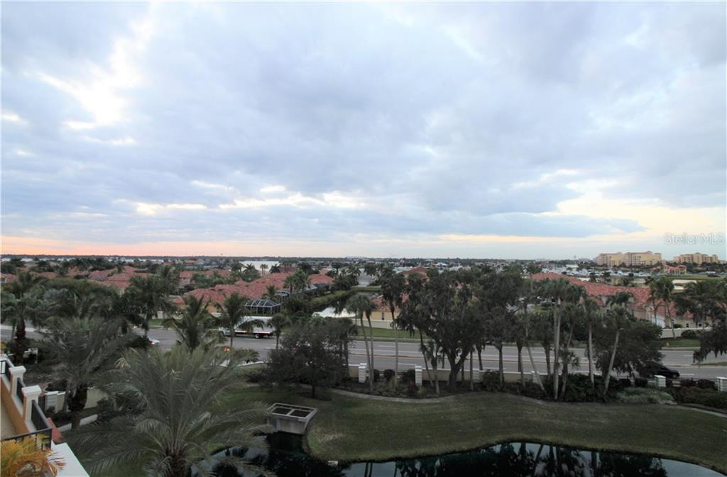 View from balcony - Condo for sale at 501 Haben Blvd #504, Palmetto, FL 34221 - MLS Number is A4421758