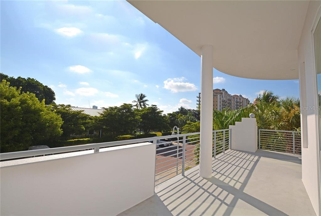 East facing terrace with access to the main living area and master suite. - Condo for sale at 609 Golden Gate Pt #201, Sarasota, FL 34236 - MLS Number is A4422340